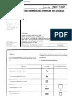 NBR 13301 - 1995 - Redes Telefônicas Internas Prediais