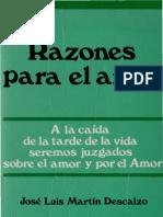 Razones Para El Amor - Martin Descalzo Jose Luis