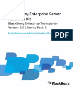 BlackBerry Enterprise Server Resource Kit Installation and Administration Guide 1322936 0127022526 001 5.0.3 US