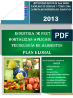Plan Global Frutas y Hortalizas 2013