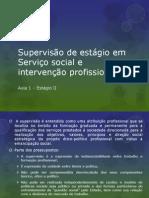 Supervisão de estágio em Serviço social e intervenção