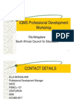 IQMS Professional Development Workshop