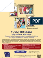 Youth For Seva internship 2013