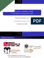 Introduccion HTML y PHP - Presentacion