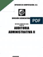 Auditoria Administrativa II