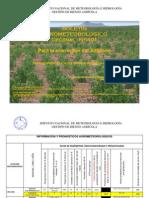BOLETÍN AGROMETEOROLOGICO Decadal Nº 401-Para la eco región del Altiplano-1er Decadal de MARZO del 2013