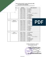 Jadwal Wawancara Calon Anggota PPK Pemilukada Jatim wilayah KPU Kab.Kediri