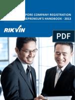 Singapore Company Registration Entrepreneur's Handbook 2013