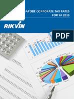 Singapore Corporate Tax Rates 2013