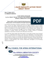 Ghana @ 56 - A Call for Rapid de-NeoColonisation, Full Independence, Advancement & Development Through Conscientious Ethical Leadership - Joint Media Release, The GREAT Consortium - 5th March 2013