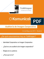 Auditor a Image n Corpora Tiva