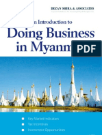 An Introduction to Doing Business in Myanmar 2012