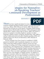 De Oliveira (2011) - Strategies for Nonnative-English-Speaking Teachers' Continued Development as Professionals