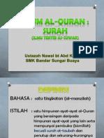 Ulum Quran Ting.3 - Surah