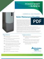 Boiler Mtce Checklist