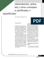 Calculo de indemnización, prima  de antigüedad y otros conceptos por despidos justificados e injustificados