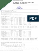 Dowling vs Ia-cityw (03 06 13 at Iowa Boys State Tournament-4a Quarter)