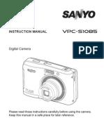 Sanyo Vpc-s1085 Camera Manual