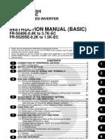 Mitsubishi S500E VFD Basic Manual