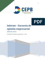 Informe Encuesta Abril 2012