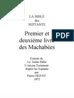 Septante Machabées 1 et 2