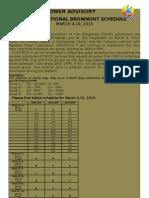 GenSan Rotational Brownout Mar 4-10