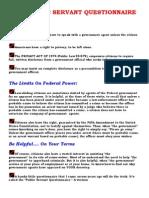Public Servant Questionnaire