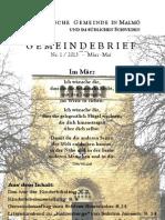 Gemeindebrief Frühjahr 2013