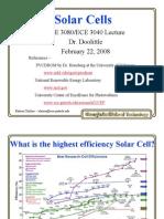 ECE3080 L 11c Solar Cells