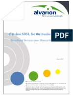 Wireless SDSL for the Business Sector