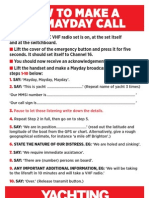 Mayday Call Sheet a5