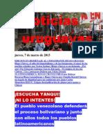 Noticias Uruguayas Jueves 7 de Marzo Del 2013