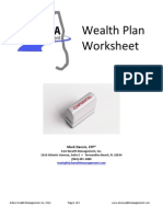 Wealth Plan Worksheet RTQ
