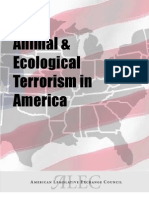 Alec Animal Ecological Terrorism Bill