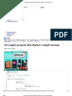 Java Applet Program That Displays a Simple Message _ Electrofriends
