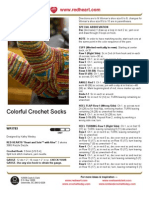 1CAC4d01 Colorful Crochet Socks Crochet Pattern