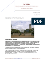 IMBISA Communications Newsletter 007-2013 Police Raid on Prayers Swasiland