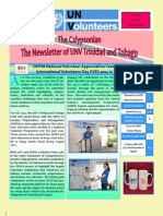 First issue of UNV Trinidad and Tobago newsletter