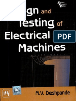 Design and Testing of Electrical Machines