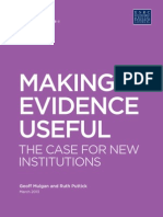 Making Evidence Useful
