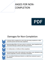 Damages for Non-completion