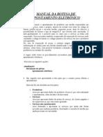 MANUAL DA ROTINA DE APONTAMENTO ELETRÔNICO