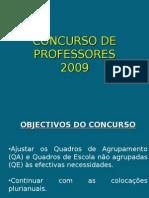 CONCURSO DE PROFESSORES - 2009