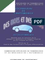 Vocabulaire de l'automobile Français Anglais