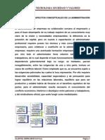 FUNDAMENTOS Y ASPECTOS CONCEPTUALES DE LA ADMINISTRACIÓN