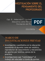 La InvestigaciÓn Sobre El to Del Profesorado