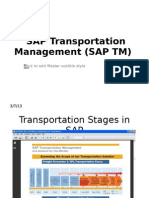 SAP Transportation Management (SAP TM)