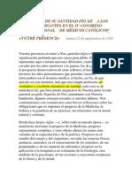 Pio XII-Discurso Medicos