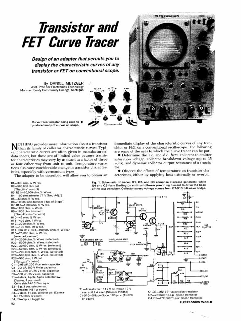 Curve Tracer   Field Effect Transistor   Transistor