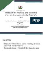 Nigeria DebtVulnerabilityinlightoftheeconomicandfinancialcrisis
